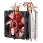 CoolAge L400 DC 12V 1600PRM 40.5cfm Heatsink Hydraulic Bearing Cooling Fan CPU Cooling Fan for AMD Intel 775 1150 1156 1151(Red)