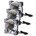 3 PCS CoolerAge DC 12V – 0.25A 2500PRM Remote Cotrol Computer Cooler Cooling Case Fan with Adjust LED