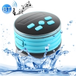 Portable Speaker IPX7 Waterproof Support FM Radio High-fidelity Sound Box Bluetooth Speaker with Suction Cup & LED Light(Blue)