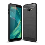 Brushed Texture Carbon Fiber Shockproof TPU Case for Galaxy J4 Core / J4+ (Black)