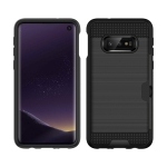 Brushed Texture PC + TPU Protective Case for Galaxy S10 Lite, with Card Slot (Black)
