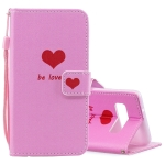 Heart Pattern Horizontal Flip Leather Case for Galaxy S10, with Holder & Card Slots & Wallet