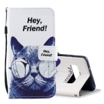 Cool Cat Pattern Horizontal Flip Leather Case for Galaxy S10, with Holder & Card Slots & Wallet