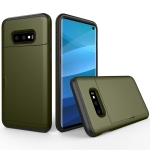Shockproof Rugged Armor Protective Case for Galaxy S10 Lite, with Card Slot (Army Green)