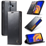 CaseMe-003 PU + PC Business Style Crazy Horse Texture Horizontal Flip Leather Case for Galaxy J4 Plus, with Holder & Card Slots & Wallet (Black)