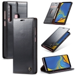 CaseMe-003 PU + PC Business Style Crazy Horse Texture Horizontal Flip Leather Case for Galaxy A9 (2018), with Holder & Card Slots & Wallet (Black)