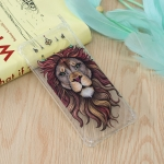 Lion King Pattern Oil Embossed TPU Case for Galaxy S10