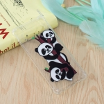 Three Pandas Pattern Oil Embossed TPU Case for Galaxy S10