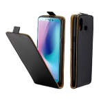 Business Style Vertical Flip TPU Leather Case for Galaxy A6s, with Card Slot (Black)