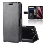 R64 Texture Single Fold Horizontal Flip Leather Case for Sony Xperia XZ4 Compact, with Holder & Wallet & Card Slots & Photo Frame (Black)