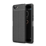 Litchi Texture TPU Shockproof Case for Sony Xperia XZ4 Compact (Black)