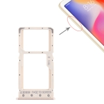 SIM Card Tray + SIM Card Tray / Micro SD Card Tray for Xiaomi Redmi 6 / Redmi 6A(Gold)