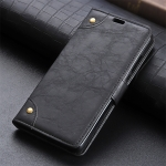 Copper Buckle Retro Crazy Horse Texture Horizontal Flip Leather Case for Xiaomi Redmi Note 7, with Holder & Card Slots & Wallet (Black)