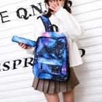 Star Sky Magic Student Bag Girls Backpack (Blue)