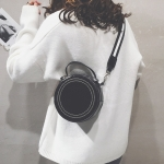 Fashion Multi-function Small Round Bag Messenger Bag Girl Shoulder Bag (Black)