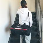 Oxford Cloth Inclined Shoulder Sport Bag Large Capacity Travel Bag (Black)