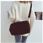 Soft Velvet Shoulder Sports Gym Handbag Travel Bag (Black)
