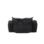 Mini Nylon Cloth Shoulder Sports Gym Handbag Travel (Black)