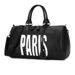 PU Leather Shoulder Travel Bag Sport Leisure Handbag without Shoes Socket (White)