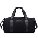Soft Nylon Cloth Shoulder Travel Bag Sports Gym Handbag (Black)