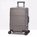 20 inch Suitcase Female Pull-rod Case Universal Wheel PC Travel Suitcase (Grey)