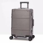 20 inch Suitcase Female Pull-rod Case Universal Wheel PC Travel Suitcase (Grey)