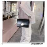 Retro Solid Color Square Flip Cover Casual Small Bag Ladies Shoulder Messenger Bag (Black)