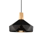 YWXLight Creative Wrought Iron Personality Small Chandelier Macaron Modern LED Pendant Light (Color:Black Size: + Warm white)