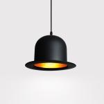 YWXLight Modern Personality Simple Aluminum Restaurant Study Window Creative Chandelier (Round top hat)