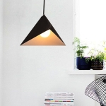 YWXLight Modern Creative Chandelier Geometric Triangle Single Head Modern Pendant Light (Black)