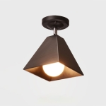 YWXLight LED Nordic Modern Hanging Lamp Creative Simple Pendant Light E27 Bulb Perfect for Kitchen Dining Room Bedroom Living Room (Color:Black Size: + Warm White)