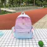 Cute Fresh Girl Student Shoulder Backpack Bag Handbag (Lake Blue)