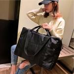 Leisure Oxford Cloth Shoulder Travel Bag Sport Handbag (Black)