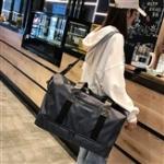 Dry and Wet Separating Shoulder Travel Bag Leisure Sport Handbag with Shoes Socket (Black)