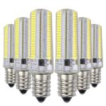 YWXLight 6PCS E12 7W AC 110-130V 152LEDs SMD 3014 Energy-saving LED Silicone Lamp (Cold White)