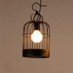 YWXLight E27 Bulb Retro Pendant Light LED Pendant Lamp, AC 220V(Black)