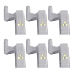YWXLight LED Night Lights Creative Cabinet Lights Wardrobe Cabinet Door Hinge Night Lights (6PCS)