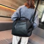 Nylon Shoulder Travel Bag Sport Leisure Handbag (Black)