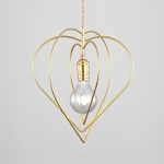 YWXLight Modern Nordic Pendant Light Heart-shaped Lighting E27 Bulb Used for Dining Living Room Kitchen Bedroom (Cold White)