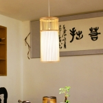 YWXLight Home Decoration Lighting Chinese Style Simple Bamboo And Rattan Long Chandelier (Warm White)