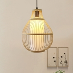 YWXLight Decorative Lamp Bamboo Chandelier Creative Modern Chinese Simple Chandelier (Warm White)