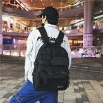 Double Shoulders School Backpack Travel Bag (Black)