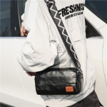 PU Leather Single Shoulder Crossbody Bag Handbag (Black)
