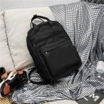 Double Shoulders School Bag Travel Backpack Bag (Black)