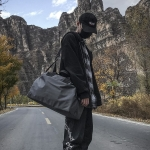 Nylon Shoulder Travel Bag Leisure Sport Handbag (Gray)
