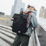 Buckle Design Outdoor Sport Double Shoulders Travel Backpack Bag (Black)