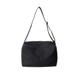 Nylon Shoulder Travel Bag Leisure Sport Handbag (Black)