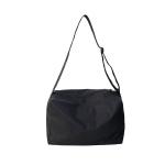 Nylon Shoulder Travel Bag Leisure Sport Handbag (Black)
