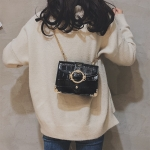 Casual PU Shoulder Bag Ladies Handbag Messenger Bag (Black)