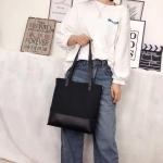 Casual Multifunctional PU Leather Shoulder Crossbody Ladies Handbag (Black)